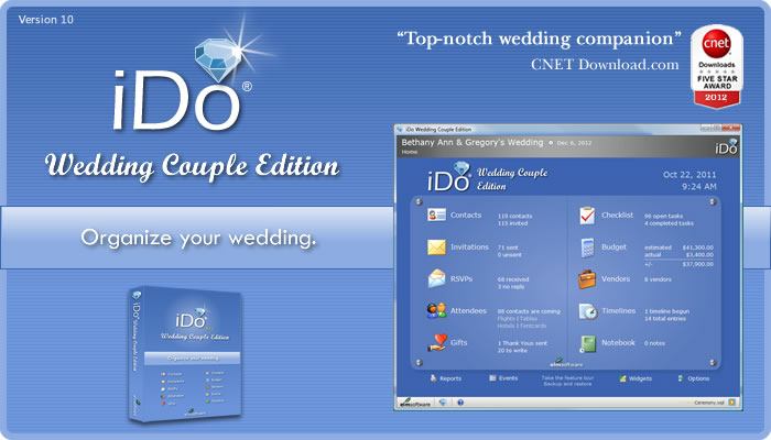 iDo Wedding Couple Edition - Wedding planning software for brides and grooms
